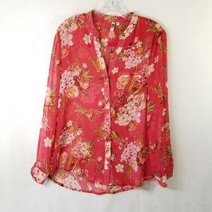 Kut Kloth S Sheer Floral Hydrangea Top 3559